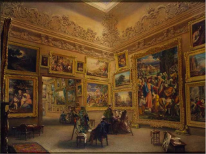 Frederick MacKenzie, The National Gallery when at Mr J.J. Angerstein's House, Pall Mall, 1824-34, © Victoria and Albert Museum, London