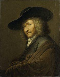Detail of Portrait of Art Dealer Jan Pieterz Zomer (1641-1724)
