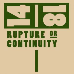 14-18 Rupture or Continuity Flyer front