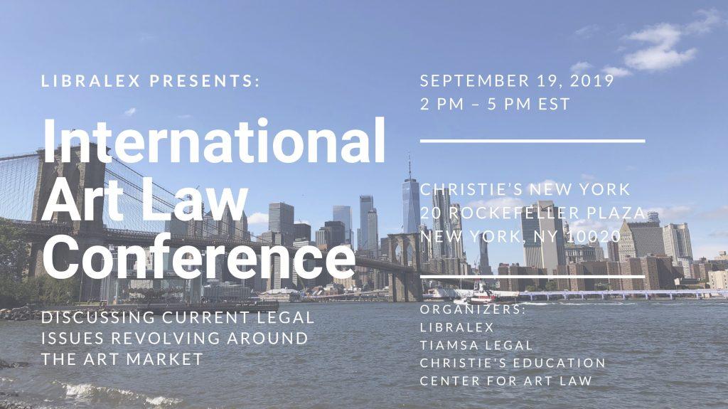 TIAMSA EVENT: TIAMSA Legal – Art Law Conference NYC, Sept 19